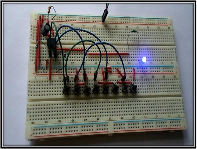 Electronic Code Lock Circuit Using 555 Timer IC